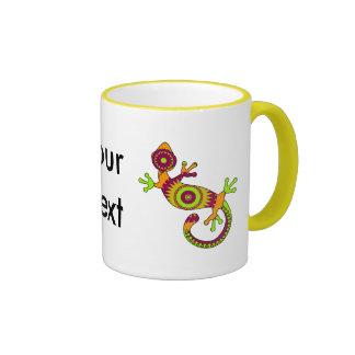 gecko del estallido taza a dos colores