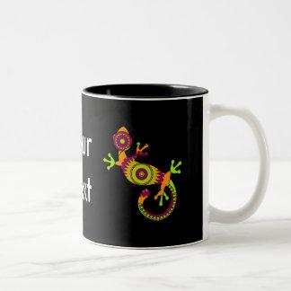 gecko del estallido taza dos tonos