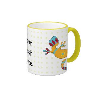 gecko del estallido tribal tazas de café