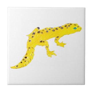 Gecko del leopardo azulejo cerámica