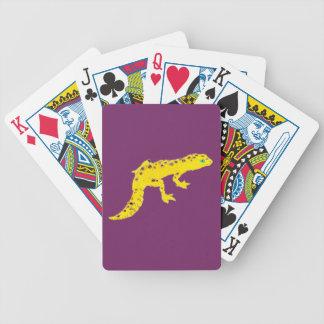 Gecko del leopardo barajas de cartas