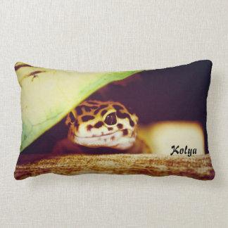 Gecko del leopardo cojín
