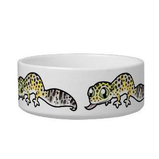 Gecko del leopardo del dibujo animado tazón para gato