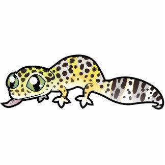 Gecko del leopardo del dibujo animado escultura fotografica