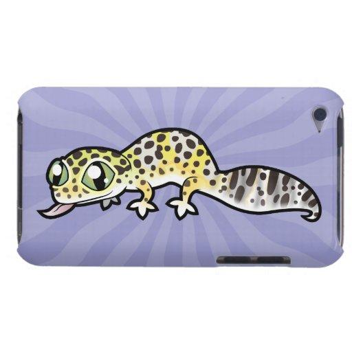 Gecko del leopardo del dibujo animado iPod touch cárcasas