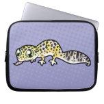 Gecko del leopardo del dibujo animado fundas portátiles