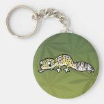 Gecko del leopardo del dibujo animado llaveros personalizados
