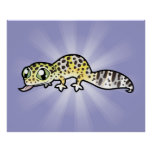 Gecko del leopardo del dibujo animado posters