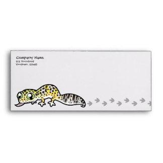 Gecko del leopardo del dibujo animado