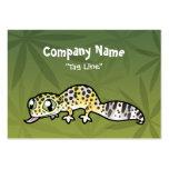 Gecko del leopardo del dibujo animado plantillas de tarjetas personales