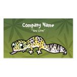 Gecko del leopardo del dibujo animado tarjeta de visita