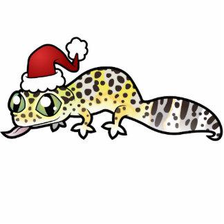 Gecko del leopardo del navidad escultura fotografica