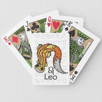 """Gecko del leopardo del zodiaco de """"Leo"""" Barajas De Cartas"""