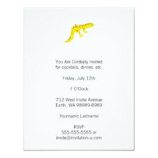 """Gecko del leopardo invitación 4.25"""" x 5.5"""""""