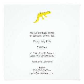 """Gecko del leopardo invitación 5.25"""" x 5.25"""""""