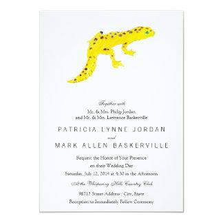 """Gecko del leopardo invitación 5"""" x 7"""""""