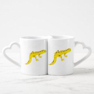 Gecko del leopardo set de tazas de café