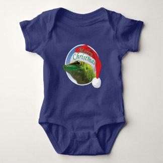 Gecko del navidad - mono del jersey del bebé