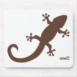 Gecko del raton de Alfombrilla Tapetes De Ratón