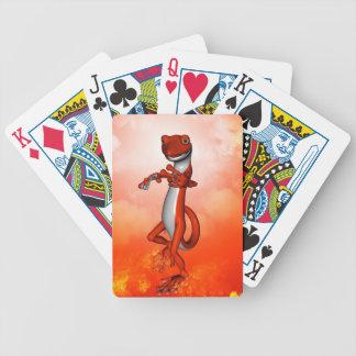 Gecko divertido baraja de cartas