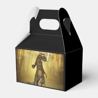 Gecko divertido caja para regalo de boda