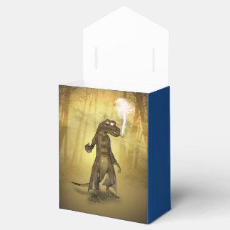 Gecko divertido con el tubo cajas para regalos de fiestas