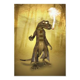 """Gecko divertido invitación 5"""" x 7"""""""