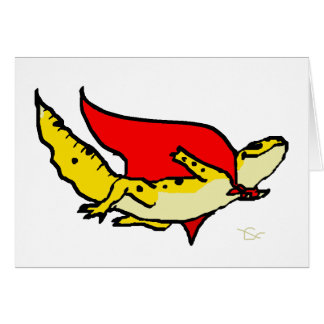 Gecko estupendo tarjeta de felicitación