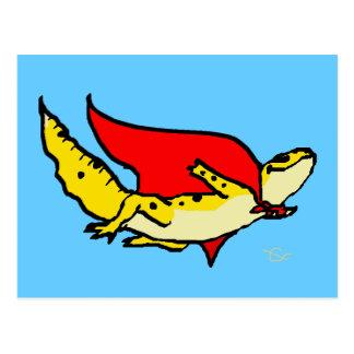 Gecko estupendo tarjetas postales