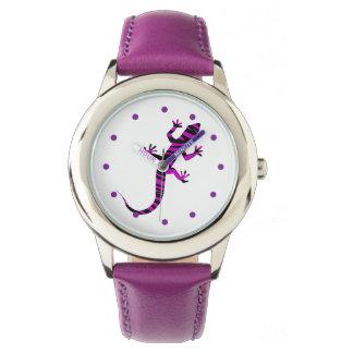 Gecko femenino de la naturaleza reloj de mano