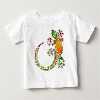 Gecko Floral Tribal Art Baby T-Shirt