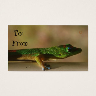 Gecko gift tags