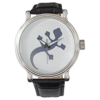 Gecko gris reloj