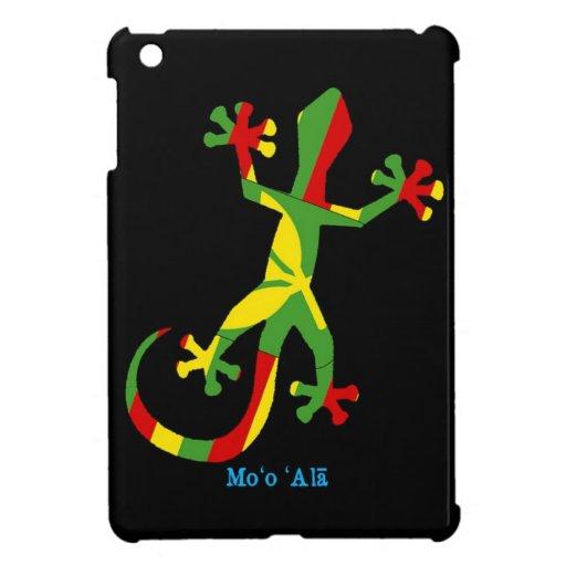 Gecko hawaiano de la bandera iPad mini carcasa