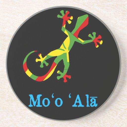 Gecko hawaiano de la bandera posavasos cerveza