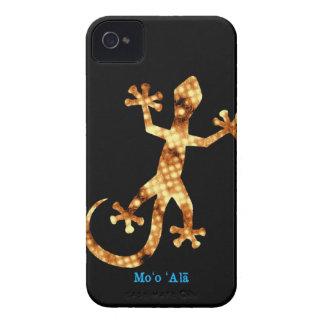 Gecko hawaiano de oro iPhone 4 Case-Mate cárcasas