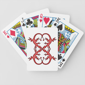 Gecko Heart Bicycle Playing Cards