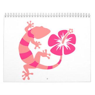 Gecko hibiscus calendar