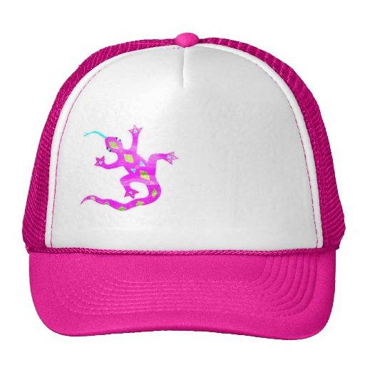 Gecko in Pink2 Trucker Hat