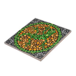 Gecko inalámbrico, prueba de la opinión de color, azulejo cuadrado pequeño