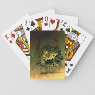 Gecko lindo barajas de cartas
