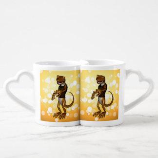 Gecko lindo taza para parejas