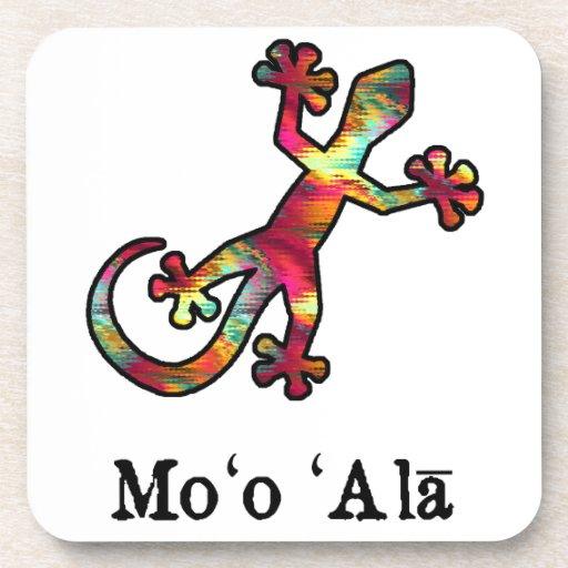 Gecko líquido del Hawaiian del arco iris Posavasos De Bebida