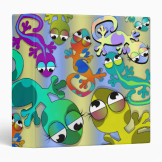 gecko lizard attack notebook 3 ring binder