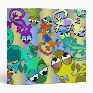 gecko lizard attack notebook vinyl binders