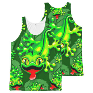 Gecko Lizard Baby Cartoon All-Over-Print Tank Top