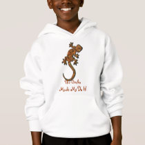 Gecko Lizard Funny Animal-lover Kid's Hoodie