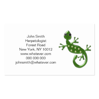 Gecko Lizard Herpetologist Double-Sided Standard Business Cards (Pack Of 100)