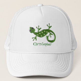 Gecko Lizard Just Add Name Trucker Hat