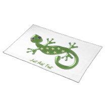 Gecko Lizard Just Add Text Cloth Placemat